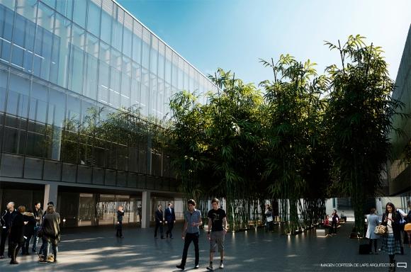 Además albergará un complejo cultural de 6.000 metros cuadrados, donde funcionará la Cinemateca y el emblemático bar Fun Fun. El conjunto estará vinculado peatonalmente con el Teatro Solís.