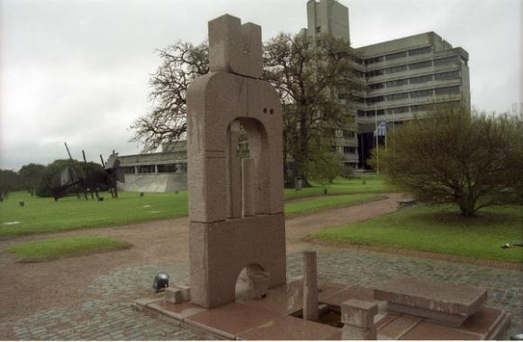 El Parque de las Esculturas, en los alrededores del exedificio Libertad.