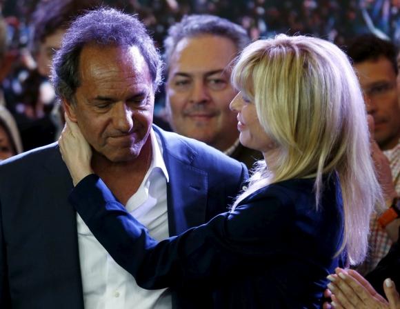 Scioli reconoció la derrota ante Mauricio Macri. Foto: Reuters