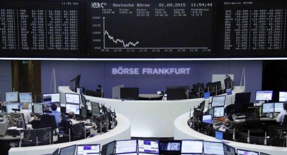 La bolsa de Fráncfort cayó un 2,38%. Foto: Reuters