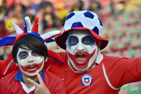 Los hinchas más divertidos de la Copa América. Foto: AFP