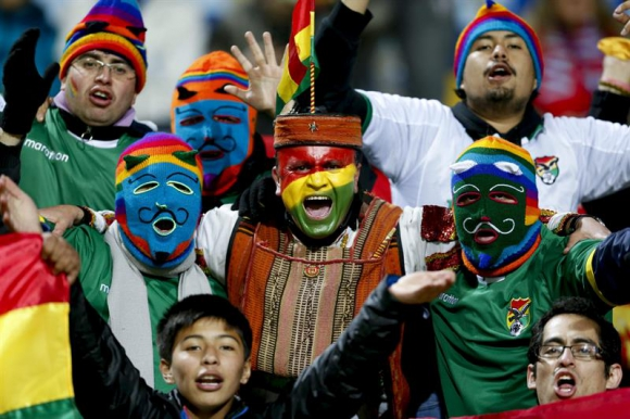 Los hinchas más divertidos de la Copa América. Foto: EFE