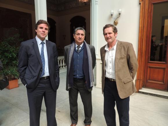 Alexis de Boismenu, Hugo Durán, Rafael Artucio.