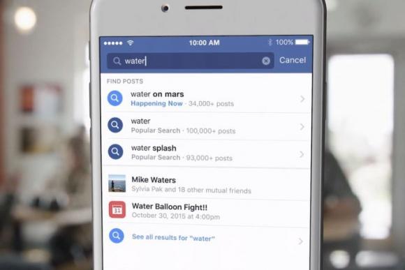 Facebook habilita las búsquedas universales en su servicio.