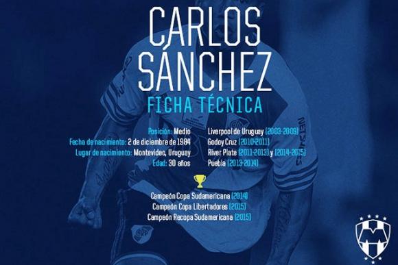 Así presenta Monterrey a Carlos Sánchez