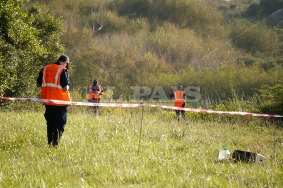 Tragedia aérea en Laguna del Sauce. Foto: Ricardo Figueredo