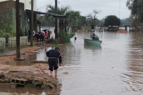 Inundaciones en Treinta y Tres. Foto: Ricardo Figueredo