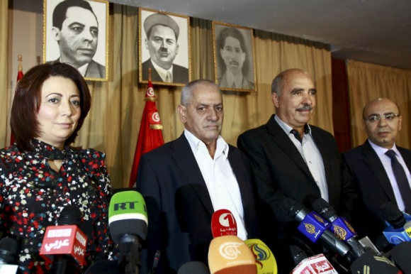 Representantes del Cuarteto para el Diálogo Nacional en Túnez. Foto: Reuters.