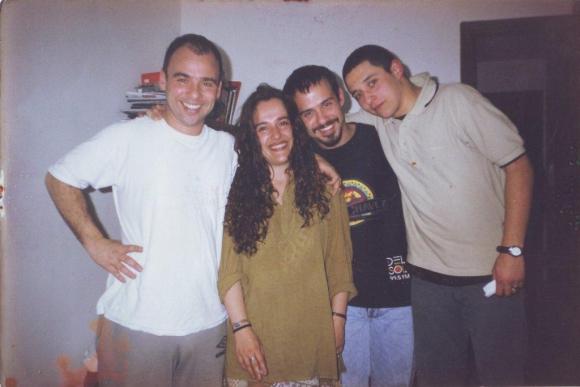 Alejandro Camino junto a sus tres hermanos: Sandra, Marcelo y Marco.