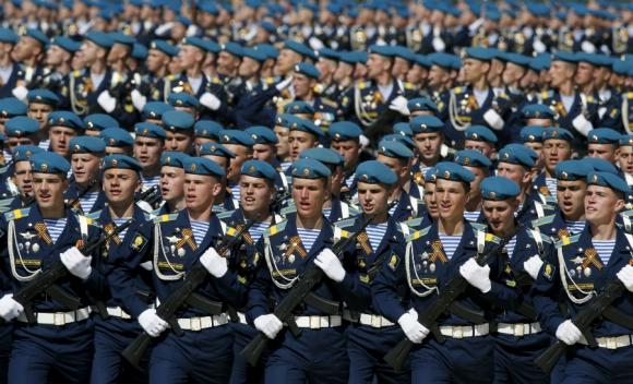Ensayo de las Fuerzas Armadas rusas para el desfile del sábado. Foto: Reuters