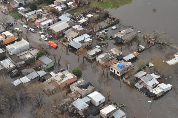Inundaciones en Durazno. Foto: Víctor Rodríguez