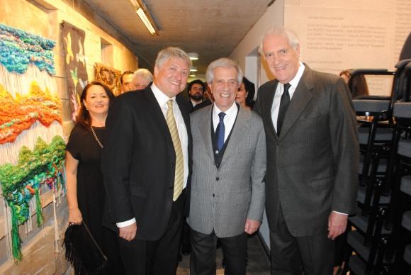 Sergio Gorzy, Tabaré Vázquez, Jack Terpins.