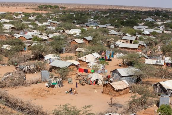 Vista aérea del campo de refugiados de Dagahaley, Dadaab, Kenia. Foto: Tom Maruko / MSF