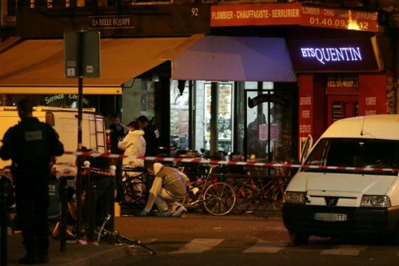 Una noche de terror en las calles de París. Foto: AFP