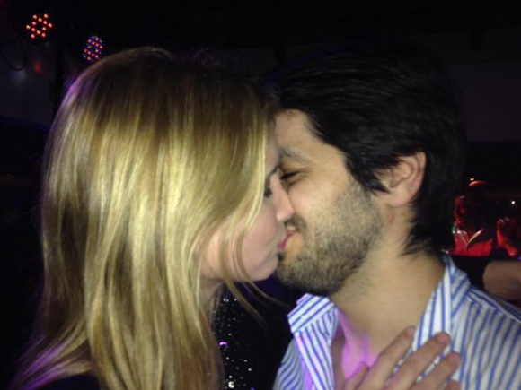 Natalie Yoffe y su novio Andrés Ojeda