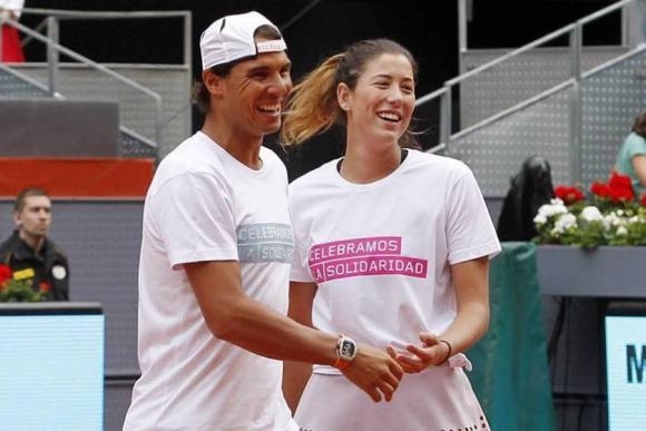 Rafael Nadal y Garbiñe Muguruza