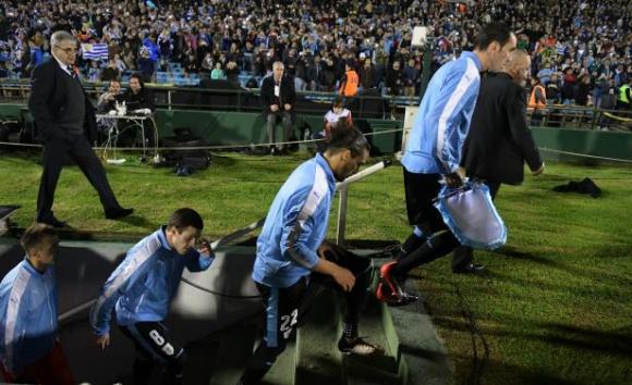 Selección uruguaya en Eliminatorias. Foto: Gerardo Pérez