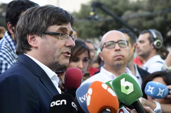 Carles Puigdemont, presidente de la Generalitat catalana. Foto: AFP.