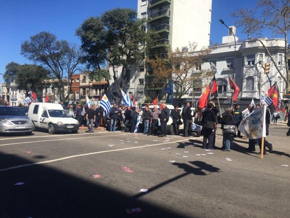 Manifestación del sindicato del gas