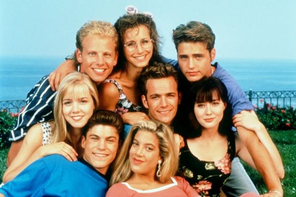 El elenco de la serie Beverly Hills 90210