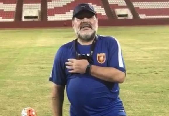 Diego Maradona anuncia el sorteo en su Instagram. Foto: captura @_diegomaradona_10