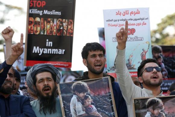 """Musulmanes denuncian un """"genocidio rohinyá"""" en Birmania. Foto:"""
