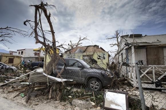 Los destrozos que dejó el huracán Irma en la isla San Martín. Foto: AFP