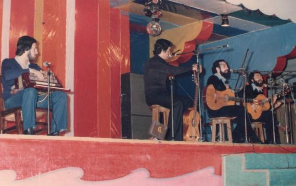 Juan Faroppa en la época en que tocó el acordeón a piano junto a Larbanois & Carrero. Foto: Juan Faroppa