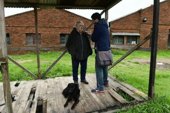 José Mujica habla con El País. Foto: Marcelo Bonjour.