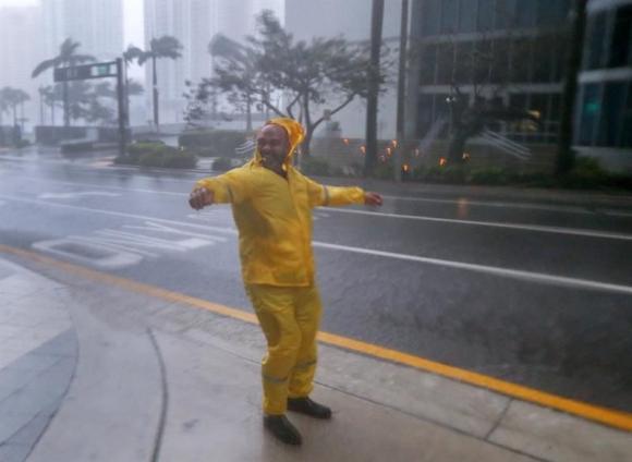 Llegada del huracán Irma a Florida. Foto: EFE