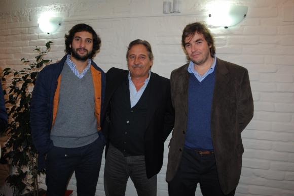 Mateo Vidal, Jorge Muñoz, Nicolás Scheck.
