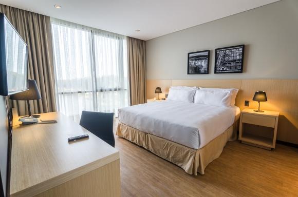 Hampton. El hotel cuenta con tres espacios suites de 60 metros cuadrados. (Foto: Gentileza Hampton by Hilton)