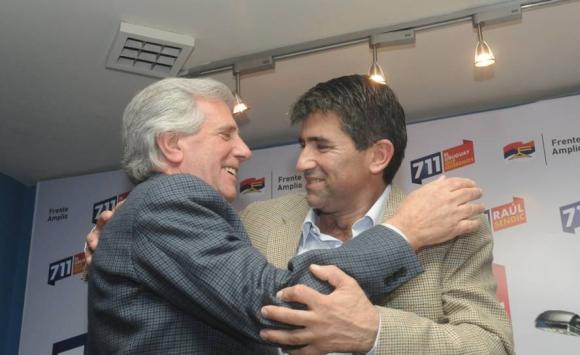 2014. Sendic y Vázquez conforman la fórmula del FA para las elecciones. Foto: Archivo El País.