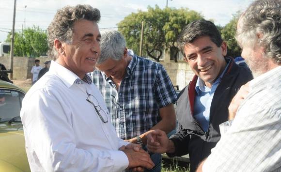 2014. Raúl Sendic y Darío Pérez en campaña. Foto: Archivo El País.