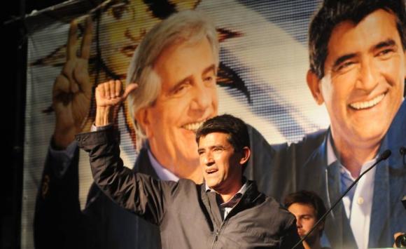 2014. Sendic durante la campaña electoral. Foto: Archivo El País.