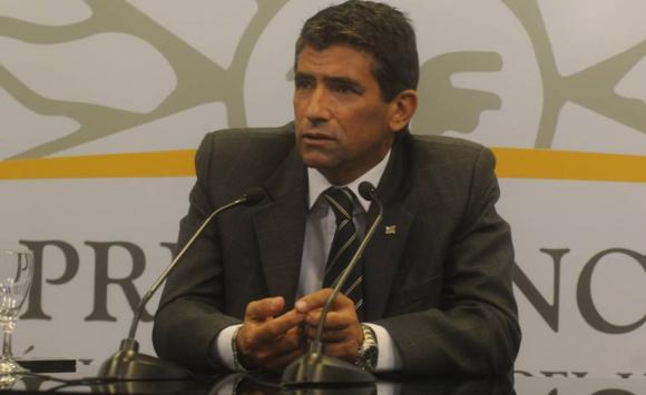 Primera conferencia de prensa de Sendic como vicepresidente. Foto: Archivo El País.