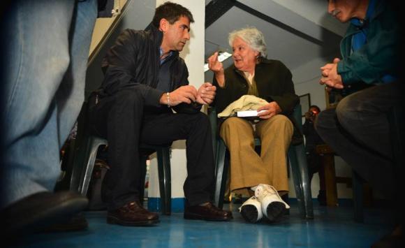 2015. Sendic y Lucía Topolansky. Foto: Archivo El País.