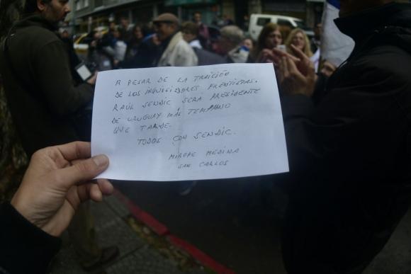 La carta de un simpatizante de Sendic. Foto: Fernando Ponzetto