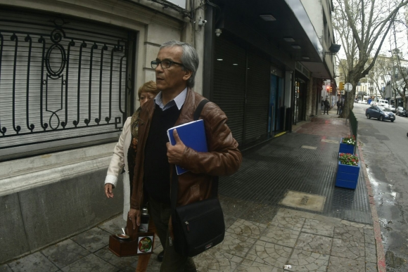 Juan Castillo arriba al Plenario. Foto: Fernando Ponzetto