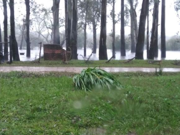 Tras las intensas lluvias varias zonas de Florida resultaron inundadas. Foto: Departamento de prensa de la Intendencia de Florida