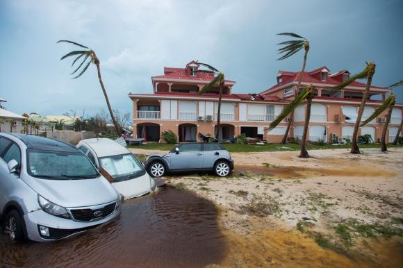 San Martín: La isla franco-holandesa fue una de las más afectadas. Foto: AFP