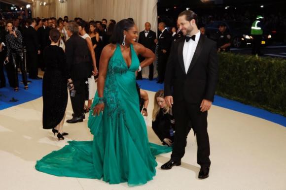 Serena Williams durante su embarazo.