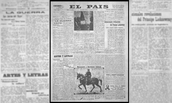 Primera edición del Diario El País el 14 de setiembre de 1918. Foto: El País