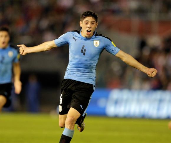 La FIFA nombró al uruguayo Valverde como una de las revelaciones del 2017