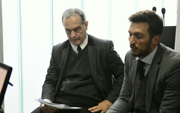 José Coya en la primera audiencia contra El País y Daniel Isgleas. Foto: Marcelo Bonjour.
