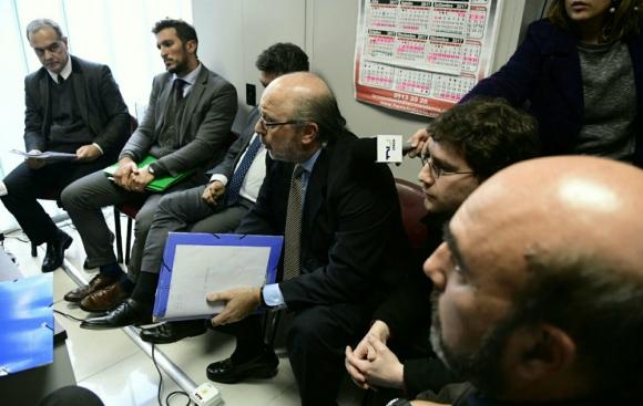 Primera audiencia de la demanda de Coya a El País. Foto: Marcelo Bonjour.