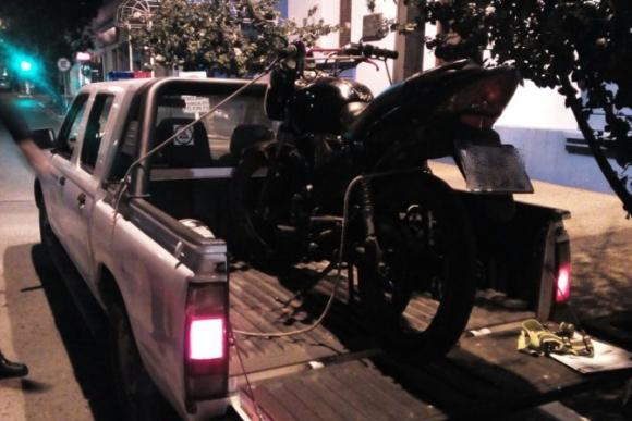 Moto incautada en Rivera. Foto: Policía de Rivera.
