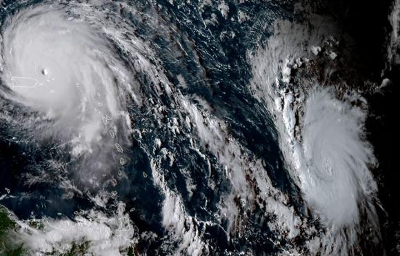 Irma y José: dos huracantes que acechan desde las aguas del Atlántico. Foto: AFP