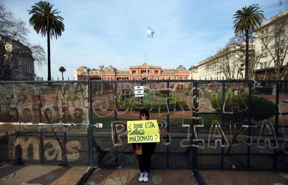 Una multitud que se concentró el viernes en Buenos Aires para reclamar por Santiago Maldonado. Foto: Reuters