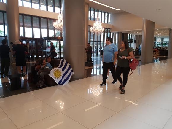 Hinchas de Uruguay en Asunción